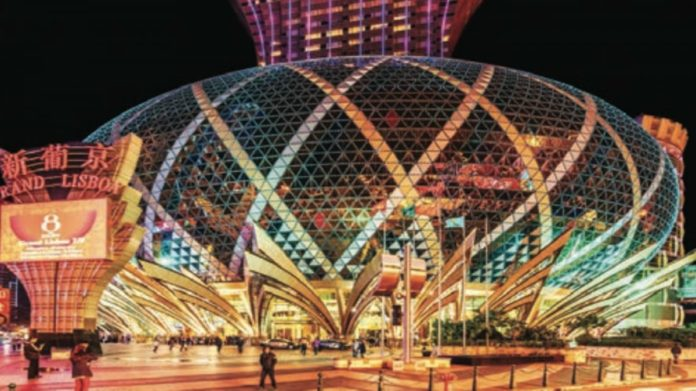 SJM Holdings Limited Working on Its Grand Lisboa Palace Facility